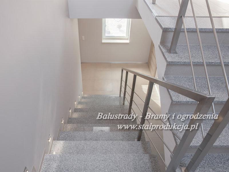 Dodatkowe Balustrady nierdzewne barierki balkonowe z szybą Kraków Małopolska JW62