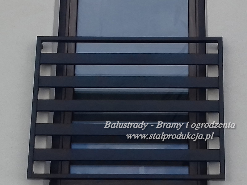 Topnotch Balustrady stalowe - metalowe barierki balkonowe Kraków Małopolska FR75