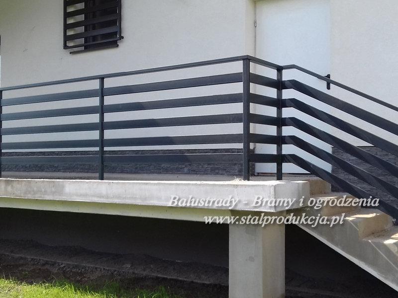 W superbly Balustrady stalowe - metalowe barierki balkonowe Kraków Małopolska XB31