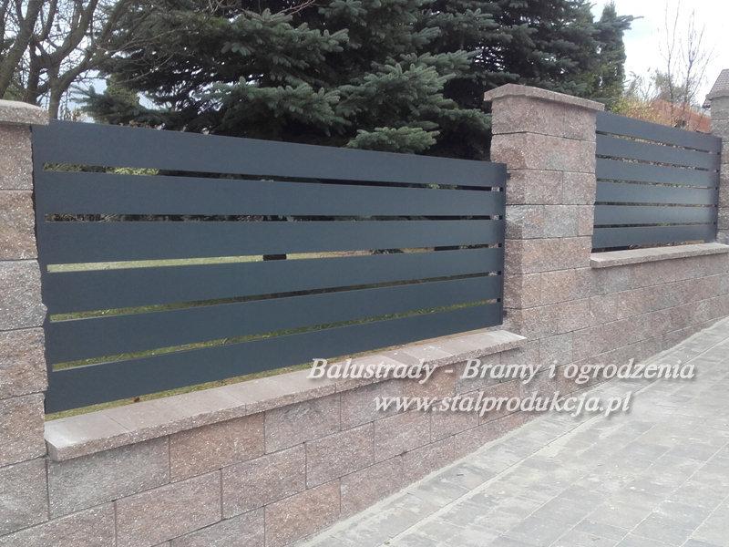 Niesamowite Ogrodzenia metalowe nowoczesne stalowe Kraków Małopolska Ślusarstwo PA97