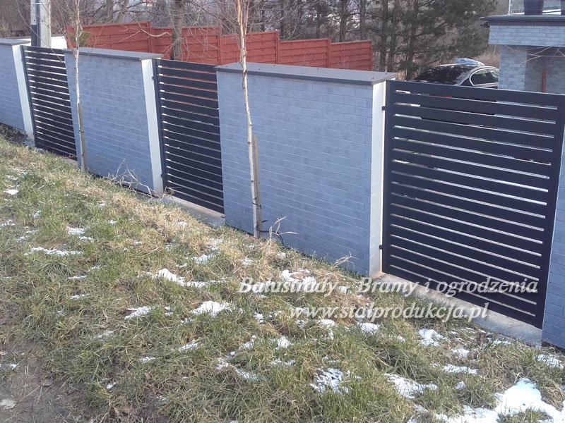 W Mega Ogrodzenia metalowe nowoczesne stalowe Kraków Małopolska Ślusarstwo LK28